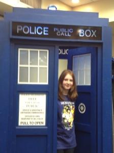 Caitlin with TARDIS