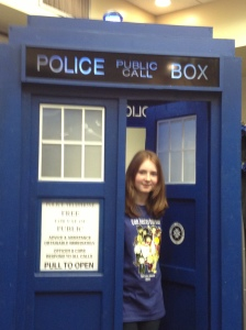 Caitlin with TARDIS