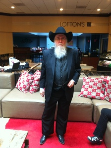 It wouldn't be a NC sf convention without Allen Wold, here looking quite dapper. Be warned: he's carrying a badge.