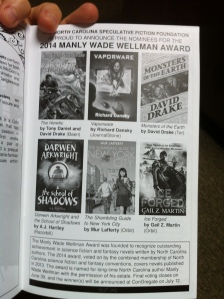 And big thanks to the ConTemporal crew for providing a page to recognize the Manly Wade Wellman Award nominees.
