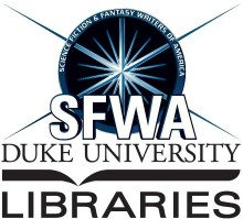 April 24 (Friday) 7 pm -- The SFWA Southeast Reading Series presents a panel on science fiction and technology with authors Mark Van Name, Mur Lafferty, Richard Dansky, Jay Posey, Justin Achilli, and (via Skype) Tiffany Trent, moderated by M. David Blake, hosted by Duke University's David M. Rubenstein Rare Book & Manuscript Library at The Edge, on the first floor of Duke University's Bostock Library. Free and open to the public. Refreshments will be provided.